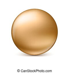 Sphere isolated on white.