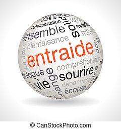 sphere, keywords, hjælpemiddel, tema, fransk, gensidige
