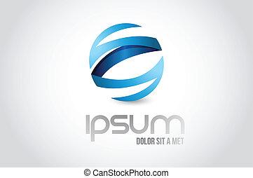 sphere logo symbol illustration design over white