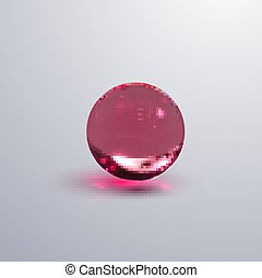 sphere., lustré, transparent