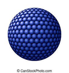 Sphere of Blue Spheres against White