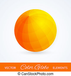 Sphere orange ball. Vector illustration.