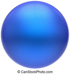 Sphere round blue button ball basic matted cyan circle badge