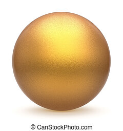 Sphere round button ball golden basic matted yellow circle