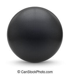 Sphere round button black matted ball basic circle geometric