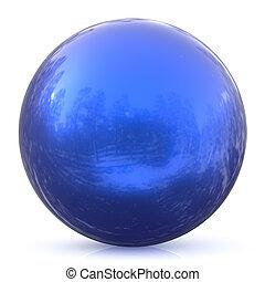 Sphere round button blue ball basic circle geometric shape