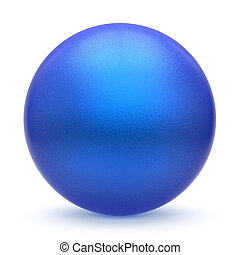 Sphere round button blue matted ball basic circle cyan figure