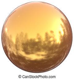 Sphere round button golden ball basic circle geometric shape