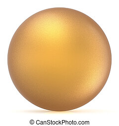 Sphere round button golden ball basic matted yellow circle blank