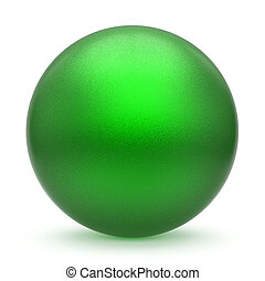 Sphere round button green matted ball basic circle object