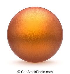 Sphere round button orange yellow matted ball basic circle