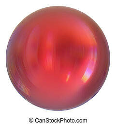 Sphere round button red, ball basic, circle geometric shape