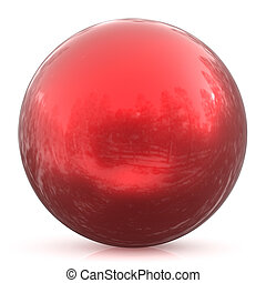 Sphere round button red ball basic circle geometric shape