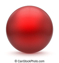 Sphere round button red matted ball basic circle geometric figure