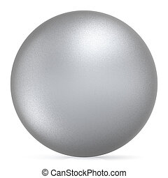 Sphere round button white silver ball basic matted metallic object