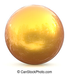 Sphere round button yellow sunny golden ball basic circle drop