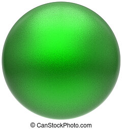 Sphere round green button ball basic matted circle minimalistic