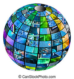 sphere - Sphere consisting of a set of multiple images on ...