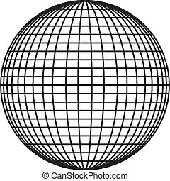 Sphere vector - The Ball Sphere Lines Vector isolate on...