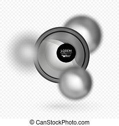 sphere, vektor, banner, 3