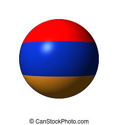 Sphere with flag of Armenia
