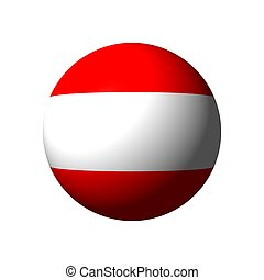 Sphere with flag of Austria