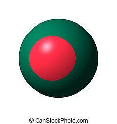 Sphere with flag of Bangladesh