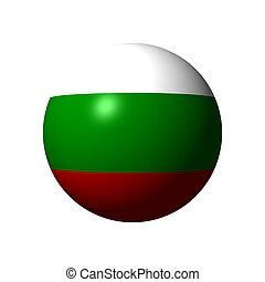 Sphere with flag of Bulgaria