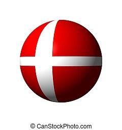 Sphere with flag of Denmark