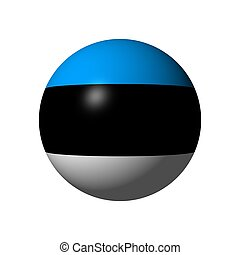 Sphere with flag of Estonia