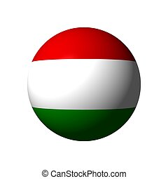 Sphere with flag of Hungary
