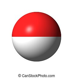 Sphere with flag of Indonesia