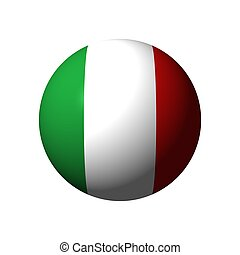 Sphere with flag of Italy