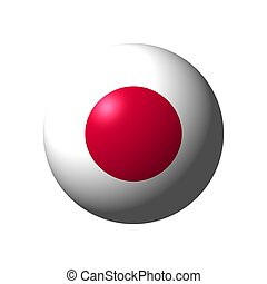 Sphere with flag of Japan