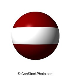 Sphere with flag of Latvia