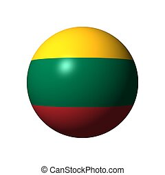 Sphere with flag of Lithuania