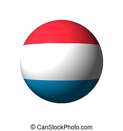 Sphere with flag of Luxembourg