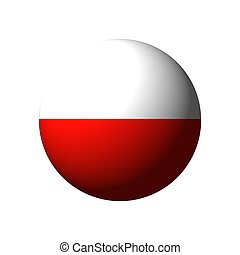 Sphere with flag of Poland