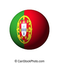 Sphere with flag of Portugal