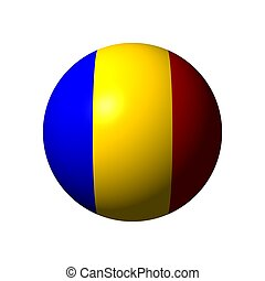 Sphere with flag of Romania