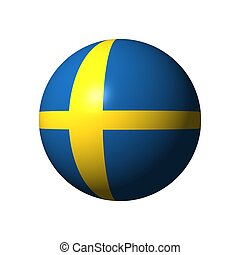 Sphere with flag of Sweden