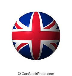 Sphere with flag of UK