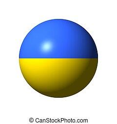 Sphere with flag of Ukraine