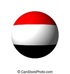 Sphere with flag of Yemen