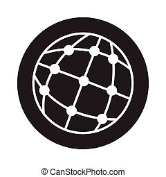 sphere world with points block style icon