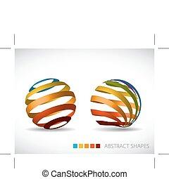 spheres, abstrakt, samling