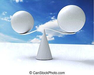 Spheres balance