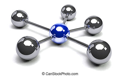 Spheres Concept - Illustration of spheres from metal as ...