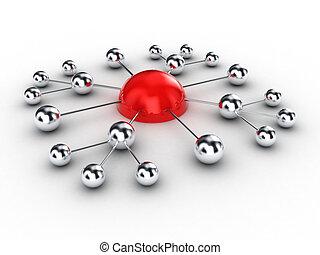 Spheres - Illustration of spheres from metal, as...