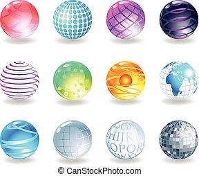 Spheres icons.